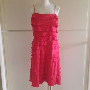 J.Crew Red Linen Ruffled Dress, Pre-Owned, Sz. 12